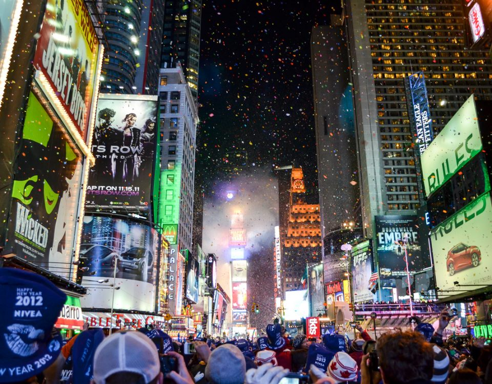 New York City ball drop on new year's eve